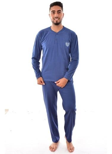 Pemilo Erkek 1065 Uzun Kol Süprem Pijama Takımı LACİVERT İndigo